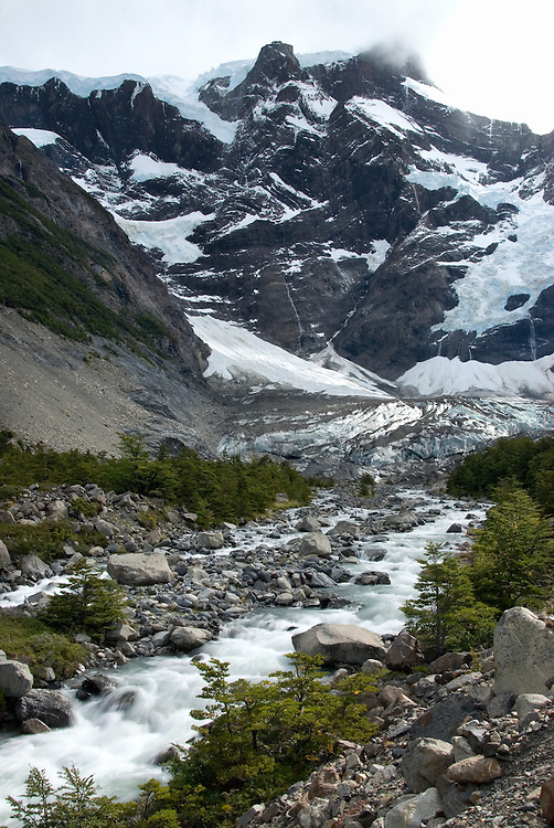 Valle Del Frances in Torres Del Paine National Park, Chile.