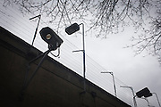 CCTV cameras barbed wire over the outer wall of the notorious secret police (Stasi) Hohenschonhausen prison. The Berlin-Hohenschönhausen Memorial is now a museum and memorial located in Berlin's north-eastern Lichtenberg district. Hohenschönhausen was a very important part of the Socialist GDR's (German Democratic Republic) system of political and artistic oppression. Although torture (including Chinese water torture) and physical violence were commonly employed at Hohenschönhausen (especially in the 1950s), psychological intimidation was the main method of political repression and techniques including sleep deprivation, total isolation, threats to friends and family members. Between 1950 and 1989, the Stasi employed a total of 274,000 people in an effort to root out the class enemy. The Hohenschonhausen prison's existence was largely unknown to locals - another blank on the map. During Hitler's Third Reich, the Gestapo had one agent for every 2,000 citizens whereas the Stasi had approximately an spy for every 6.5. German media called East Germany 'the most perfected surveillance state of all time' - administered from this complex of offices.