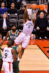 October 19, 2018 - Toronto, Ontario, Canada - Kawhi Leonard #2 of the Toronto Raptors shoots the ball during the Toronto Raptors vs Boston Celtics NBA regular season game at Scotiabank Arena on October 19, 2018 in Toronto, Canada (Toronto Raptors win 113-101) (Credit Image: © Anatoliy Cherkasov/NurPhoto via ZUMA Press)
