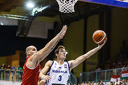 Goran Dragic of Slovenia during friendly basketball match between National teams of Slovenia and Hungary on day 1 of Adecco Cup 2017, on August 4th in Arena Tabor, Maribor, Slovenia. Photo by Grega Valancic/ Sportida