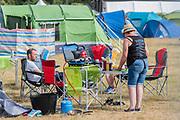 Henham Park, Suffolk, 19 July 2019. Breakfast -  The 2019 Latitude Festival.