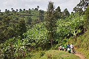 Bwindi Community hospital medical staff run an out reach clinic in Kitahurira, the only Batwa tribe settlement in Mpungu district. After a 2-hour drive and a 2km trek the team arrives in the village to administer child check ups and run a vaccination program. It is18 km to nearest health centre and 40 km to the nearest hospital.  The Mpungu district is on the edge of the Bwindi Impenetrable Forest, Western Uganda.