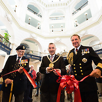 Liverpool, UK, 25th May, 2013. Lord Mayor of Liverpool Gary Miller along with First Sea Lord Admiral Sir George Zambellas and Mr Snelling open the Veterans Welcome Centre in Liverpool as part of the 70th anniversary celebrations of the Battle of the Atlantic.