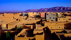 Rooftops of N'Kob, Morocco. More modern buildings stand out in grey concrete.<br /> <br /> (c) Andrew Wilson | Edinburgh Elite media