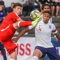 09.09.2019; Basel; FUSSBALL U20 - Schweiz - England;<br /> Yannick Marchand (SUI) Marcus Tavernier (ENG) <br /> (Andy Mueller/freshfocus)