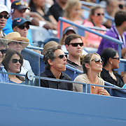 Dr. Oz show host Mehmet Öz, (left), and actor Ben Stiller watching the Sloane Stephens, USA, against Serena Williams, USA,  match during the Women's Singles competition at the US Open. Flushing. New York, USA. 1st September 2013. Photo Tim Clayton