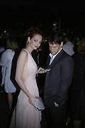OLYMPIA HEARST AND JUSTIN BARTHA, The Summer Party in association with Swarovski. Co-Chairs: Zaha Hadid and Dennis Hopper, Serpentine Gallery. London. 11 July 2007. <br /> -DO NOT ARCHIVE-© Copyright Photograph by Dafydd Jones. 248 Clapham Rd. London SW9 0PZ. Tel 0207 820 0771. www.dafjones.com.