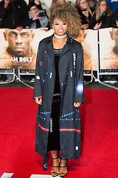 © Licensed to London News Pictures. 28/11/2016. FLEUR EAST attends the I Am Bolt world film premiere. London, UK. Photo credit: Ray Tang/LNP