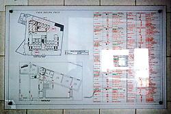 """La pianta in scala all'interno dei locali dell'ex centro di permanenza temporanea """"Casa Regina Pacis"""" a San foca (LE) ormai in disuso. 21/02/2010 (PH Gabriele Spedicato)..I Centri di permanenza temporanea (CPT), ora denominati Centri di identificazione ed espulsione (CIE), sono strutture istituite in ottemperanza a quanto disposto all'articolo 12 della legge Turco-Napolitano (L. 40/1998) per ospitare gli stranieri """"sottoposti a provvedimenti di espulsione e o di respingimento con accompagnamento coattivo alla frontiera"""" nel caso in cui il provvedimento non sia immediatamenti eseguibile."""