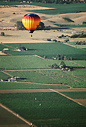 Hot Air Balloon above the Napa Valley, California.