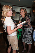 RACHEL JOHNSON; CAROLINE MICHELL Party to celebrate the publication of 'Winter Games' by Rachel Johnson. the Draft House, Tower Bridge. London. 1 November 2012.