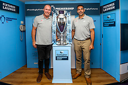 Schalk Burger of Saracens and Coach Alex Sanderson at the launch of the 2018/19 Gallagher Premiership Rugby Season Fixtures - Mandatory by-line: Robbie Stephenson/JMP - 06/07/2018 - RUGBY - BT Tower - London, England - Gallagher Premiership Rugby Fixture Launch