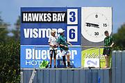 Full time score in the Handa Premiership football match, Hawke's Bay v Wellington, Bluewater Stadium, Napier, Sunday, February 03, 2019. Copyright photo: Kerry Marshall / www.photosport.nz