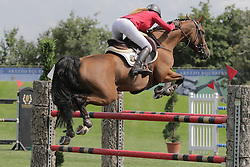 Braeckmans Cassandra (BEL) - Graciella 51<br /> FEI European Jumping Championship for young riders <br /> Arezzo 2014<br /> © Hippo Foto - Stefano Secchi