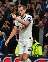Football - 2019 / 2020 UEFA Champions League - Group B: Tottenham Hotspur vs. Olympiakos<br /> <br /> Harry Kane of Tottenham celebrates scoring goal no 4, at The Tottenham Hotspur Stadium.<br /> <br /> COLORSPORT/ANDREW COWIE