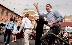 March 30, 2019 - El Paso, Texas, U.S. - Democratic candidate for president, BETO O'ROURKE, holds a kickoff rally in his hometown of El Paso.  It is the first of three such rallies held across the state today.(Credit Image: © Brian Cahn/ZUMA Wire)
