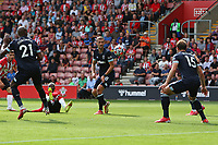 Football - 2021/ 2022 Premier League - Southampton vs. West Ham United - St Mary's Stadium - Saturday 11th August<br /> <br /> Southampton's Moussa Djenepo has a shot on goal deflected away for a corner during the Premier League match at St Mary's Stadium Southampton <br /> <br /> COLORSPORT/Shaun Boggust