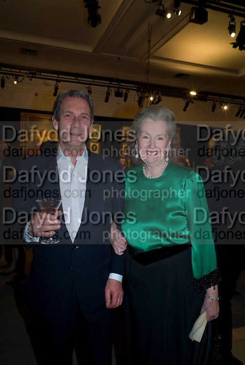 WILLIAM THUTHUILLIES; RAINE, THE COUNTESS OF SPENCER, Preview party for the Versace Sale.  The contents of fashion designer Gianni Versace's villa on Lake Como. Sothebys. Old Bond St. London. 16 March 2009.  *** Local Caption *** -DO NOT ARCHIVE -Copyright Photograph by Dafydd Jones. 248 Clapham Rd. London SW9 0PZ. Tel 0207 820 0771. www.dafjones.com<br /> WILLIAM THUTHUILLIES; RAINE, THE COUNTESS OF SPENCER, Preview party for the Versace Sale.  The contents of fashion designer Gianni Versace's villa on Lake Como. Sothebys. Old Bond St. London. 16 March 2009.