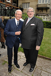 Left to right, PAUL O'GRADY and DAVID MORGAN-HEWITT Managing director The Goring London at a reception for the Friends of The Castle of Mey held at The Goring Hotel, London on 20th May 2008.<br /><br />NON EXCLUSIVE - WORLD RIGHTS