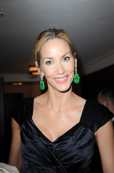 LISA BUTCHER at a dinner hosted by jewellers Damiani at The Connaught Hotel, London on 3rd February 2010.