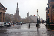 a rainy day in Edinburgh, Scotland