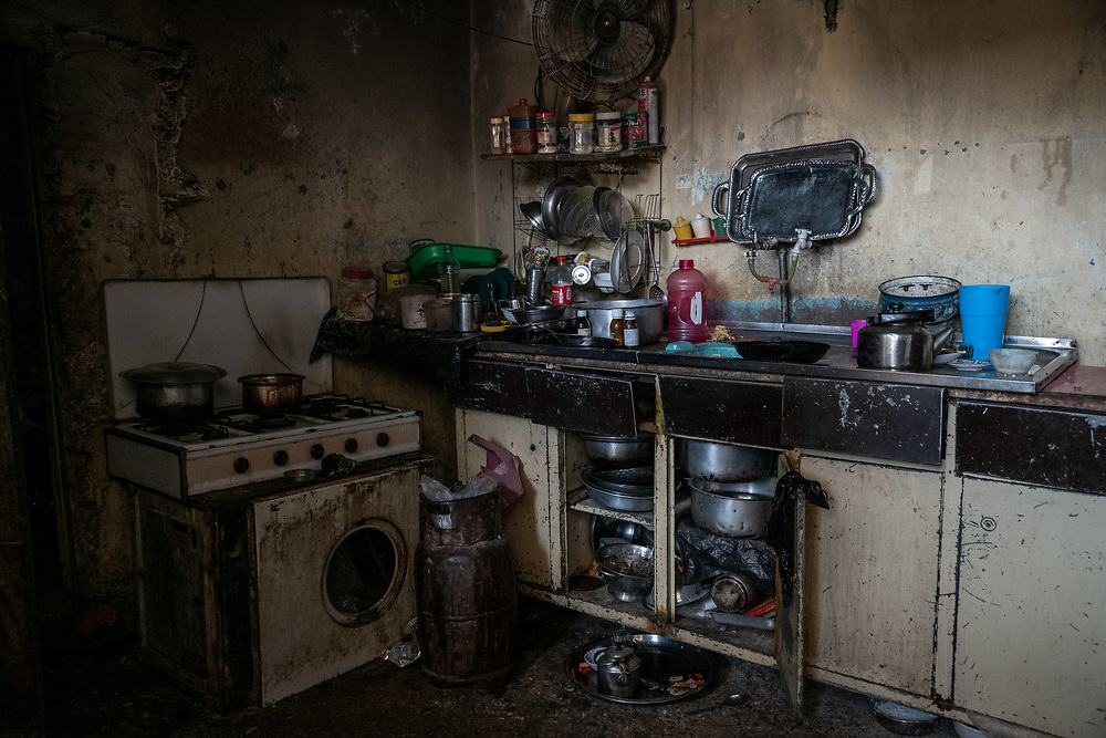 9 August 2018 – Mosul – Iraq – Inside a damaged home in al-Islah al Zirahee neighborhood of West Mosul. <br /> <br /> This home is amongst the houses due to be rehabilitated with the support of UNDP's Funding Facility for Stabilization (FFS). <br /> <br /> © UNDP Iraq / Claire Thomas
