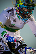 #21 (REYNOLDS Lauren) AUS during the practice session at the 2012 UCI BMX Supercross World Cup in Abbotsford, Canada
