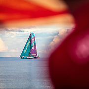 Leg 4, Melbourne to Hong Kong, day 09 on board MAPFRE, Akzonobel coming closer. Photo by Ugo Fonolla/Volvo Ocean Race. 10 January, 2018.