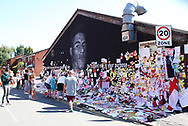 The messages of support continue to grow on the Marcus Rashford mural in Withington, Manchester, United Kingdom on 17 July 2021.