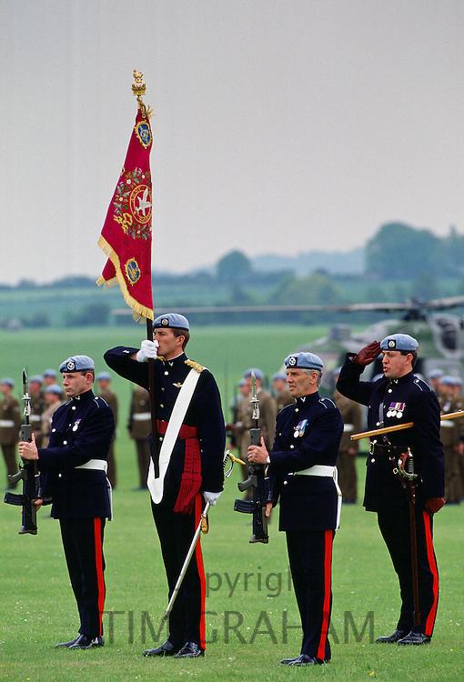 Regimental colours of the Parachute regiment, England