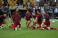 KIEV, UKRAINE - MAY 26: Mohamed Salah of Liverpool during warm up before the UEFA Champions League final between Real Madrid and Liverpool at NSC Olimpiyskiy Stadium on May 26, 2018 in Kiev, Ukraine. (MB Media)