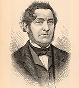 Robert Wilhelm Eberhard von Bunsen (1811-1899) German chemist and spectroscopist.  The Bunsen burner, the gas burner used in laboratories and invented by Michael Faraday, was perfected by him (1855).  Engraving from 'The Science Record' (New York, 1873).