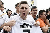 Tifosi Supporters Juventus<br /> Torino 16-07-2018 Cristiano Ronaldo arrives for mediacal visits at J Medical <br /> foto Daniele Buffa/Image Sport/Insidefoto