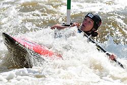 June 2, 2018 - Prague, Czech Republic - Tezeza Fiserova of Czech Republic in action during the Women's C1 finals at the European Canoe Slalom Championships 2018 at Troja water canal in Prague, Czech Republic. (Credit Image: © Slavek Ruta via ZUMA Wire)