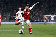 Kim Little shoots at goal during the FA Women's Super League match between Tottenham Hotspur Women and Arsenal Women FC at Tottenham Hotspur Stadium, London, United Kingdom on 17 November 2019.
