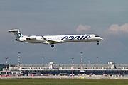 S5-AFC Adria Airways (Slovenia) Bombardier CRJ-900 Photographed at Malpensa airport, Milan, Italy