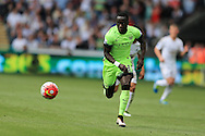 Bacary Sagna of Manchester city in action. Barclays Premier league match, Swansea city v Manchester city at the Liberty Stadium in Swansea, South Wales on Sunday 15th May 2016.<br /> pic by Andrew Orchard, Andrew Orchard sports photography.