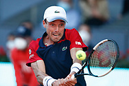 Roberto Bautista Agut of Spain in action during his Men's Singles match, round of 64, against Marco Cecchinato of Italy on the Mutua Madrid Open 2021, Masters 1000 tennis tournament on May 4, 2021 at La Caja Magica in Madrid, Spain - Photo Oscar J Barroso / Spain ProSportsImages / DPPI / ProSportsImages / DPPI