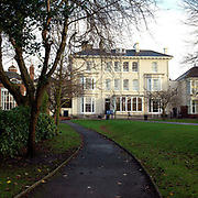 The exterior of The Mount School, York, UK. The Mount School is a Quaker independent day and boarding school in York, England, for girls aged 11–18. It was founded in 1785.