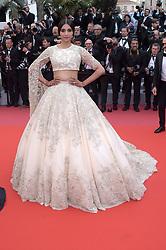"""71st Cannes Film Festival 2018, Red Carpet film """"Blackkklansman"""". Pictured: Sonam Kapoor"""