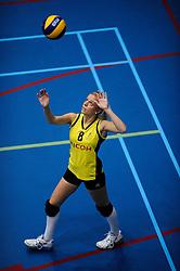 27-10-2012 VOLLEYBAL: SV DYNAMO - PRISMAWORX STRAVOC: APELDOORN<br /> Eerste divisie B vrouwen / Celine Berends<br /> ©2012-FotoHoogendoorn.nl