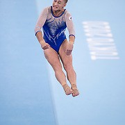 TOKYO, JAPAN - JULY 27:  Liliia Akhaimova of ROC on the vault during the Team final for Women at Ariake Gymnastics Centre during the Tokyo 2020 Summer Olympic Games on July 27, 2021 in Tokyo, Japan. (Photo by Tim Clayton/Corbis via Getty Images)