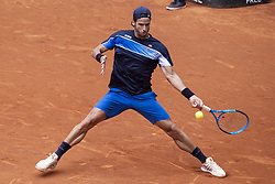 May 9, 2018 - Madrid, Spain - Spanish Feliciano Lopez during Mutua Madrid Open 2018 at Caja Magica in Madrid, Spain. May 09, 2018. (Credit Image: © Coolmedia/NurPhoto via ZUMA Press)