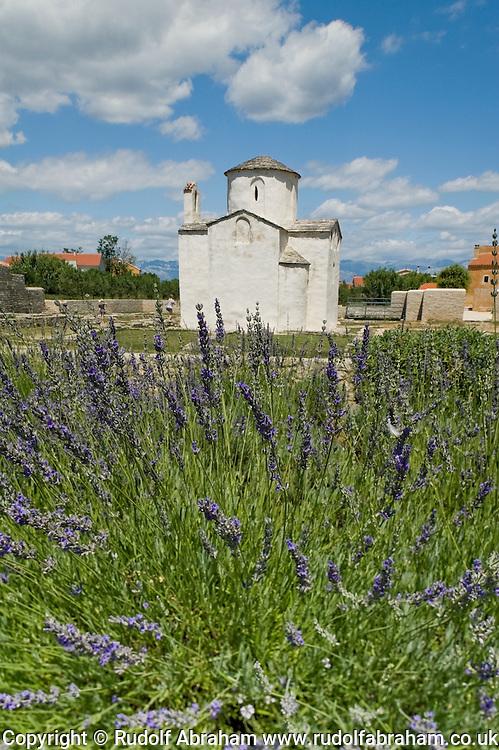 The tiny Church of the Holy Cross (Sv Križ), dating from the 9th century, Nin, near Zadar, Croatia © Rudolf Abraham