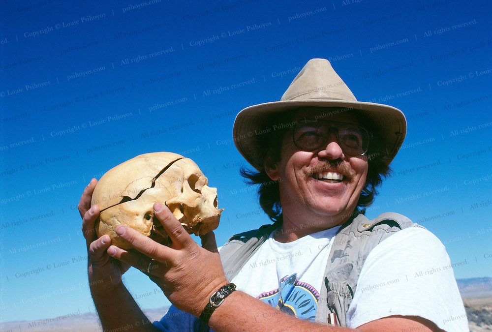 """At a remote dig site in Utah, Jim Kirkland, paleontologist for Dinamation, mentioned that Professor Cope was one of his heroes, """"Really,"""" I said.  """"Would you like to meet him?  He's in the van."""""""