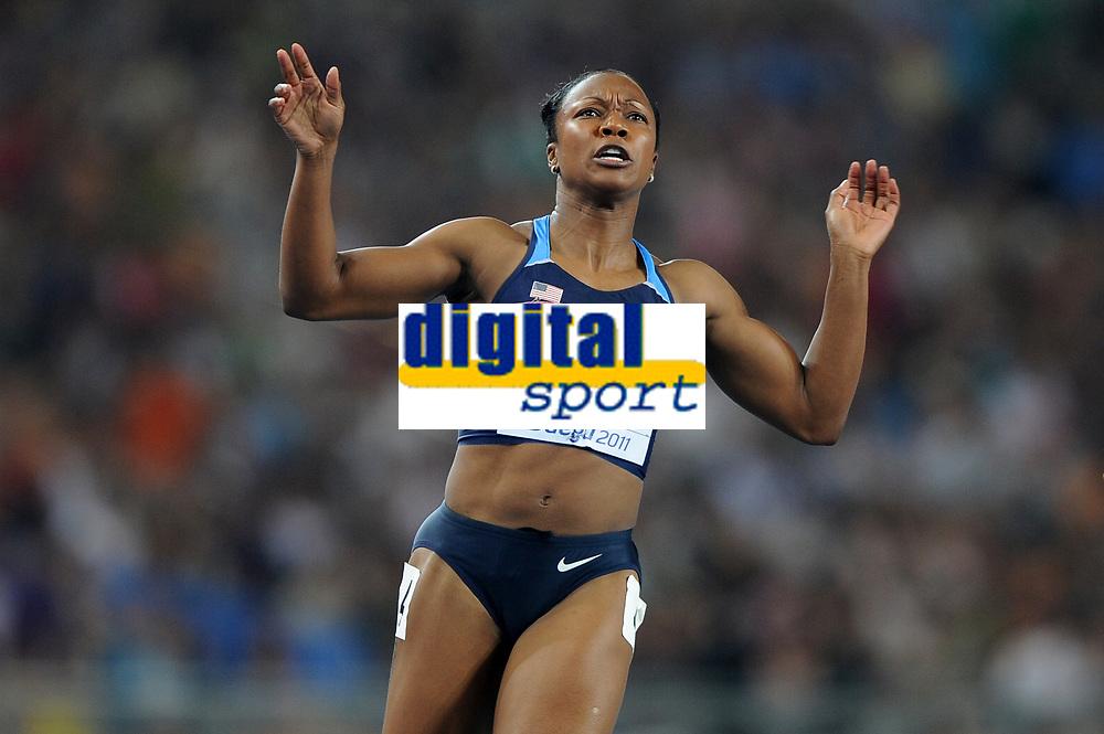 ATHLETICS - IAAF WORLD CHAMPIONSHIPS 2011 - DAEGU (KOR) - DAY 3 - 29/08/2011 - WOMEN 100M FINAL - CAMELITA JETER (USA) / WINNER - PHOTO : FRANCK FAUGERE / KMSP / DPPI