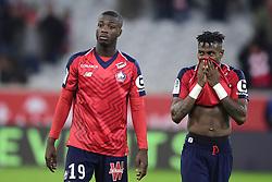 March 15, 2019 - Lille, France, FRANCE - Deception des joueurs du Losc.Nicolas Pepe (Losc) / Youssouf Kone  (Credit Image: © Panoramic via ZUMA Press)