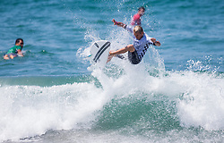July 31, 2018 - Huntington Beach, California, United States - Huntington Beach, CA - Tuesday July 31, 2018: Charly Martin in action during a World Surf League (WSL) Qualifying Series (QS) Men's round of 96 heat at the 2018 Vans U.S. Open of Surfing on South side of the Huntington Beach pier. (Credit Image: © Michael Janosz/ISIPhotos via ZUMA Wire)