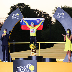 20200920: FRA, Cycling - Trophy ceremony after final stage of Tour de France 2020