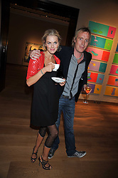 DONNA AIR and RHYS IFANS at fundraising dinner and auction in aid of Liver Good Life a charity for people with Hepatitis held at Christies, King Street, London on 16th September 2009.